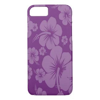 Purple Hibiscus Hawaiian Print iPhone 7 Case
