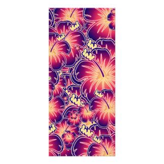 Purple hibiscus rack card design