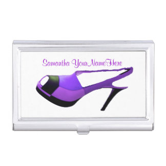 Purple High Heel Shoe Case For Business Cards
