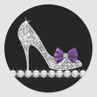 Purple High Heel Shoe Stickers