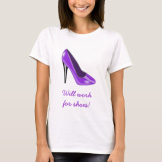 Purple High Heel Shoe T-Shirt
