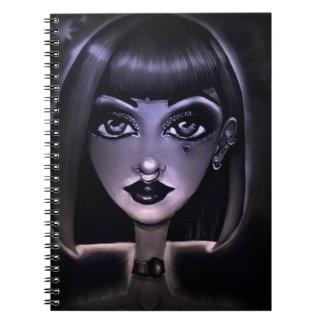 Purple Highlights Spiral Notebook