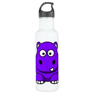 Purple Hippo 710 Ml Water Bottle