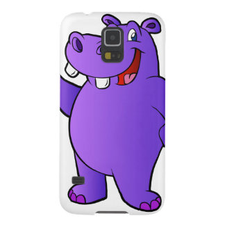 purple hippo cartoon galaxy s5 cases