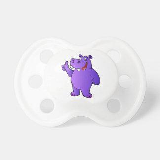 purple hippo cartoon pacifiers