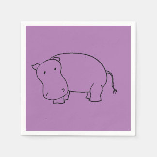 purple hippo napkin