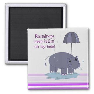 Purple Hippopotamus Magnet