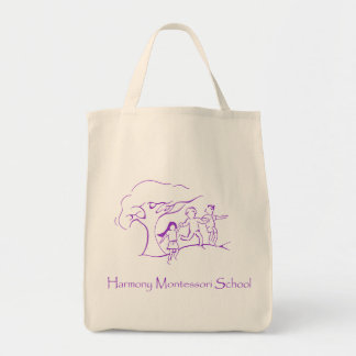Purple HMS Logo Canvas Bag