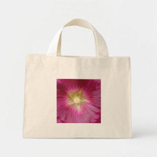 Purple Hollyhock Flower Tote Bag