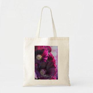 Purple Hollyhock Themed Tote Bag