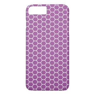 Purple Honeycomb iPhone 7 Plus Case
