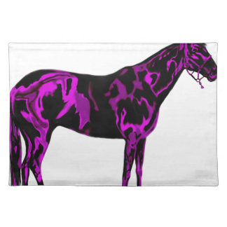 Purple Horse Art Placemat