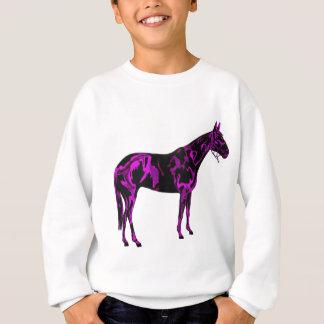 Purple Horse Art Sweatshirt