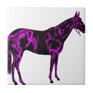 Purple Horse Art Tile