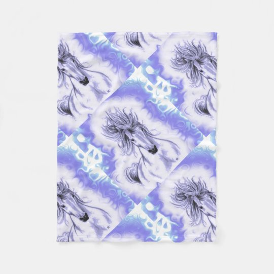 Purple Horse Fleece Blanket