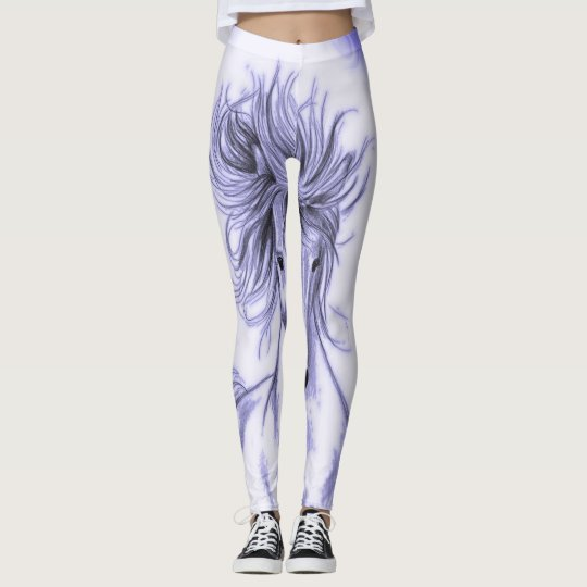 Purple Horse Leggings