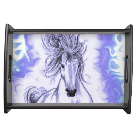 Purple Horse Serving Platters