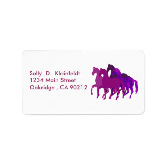 Purple Horses Fantasy Label