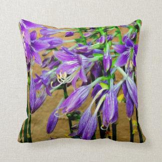 Purple Hosta Flower Garden  Pillow