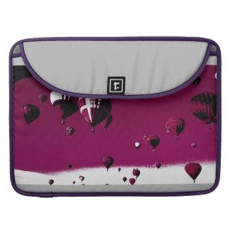 Purple Hot Air Balloon Macbook Pro Sleeve