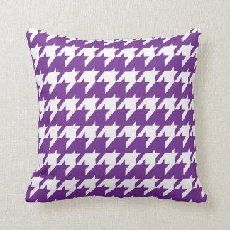 Purple Houndstooth Throw Pillow