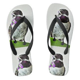 Purple Hummer Flip Flops