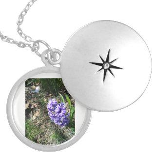 Purple Hyacinth Locket Necklace