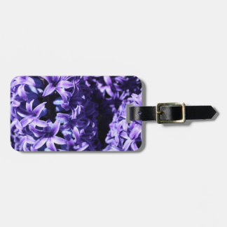 Purple Hyacinth Luggage Tag