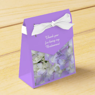 Purple Hydrangea Bridesmaids Thank You Gift Box