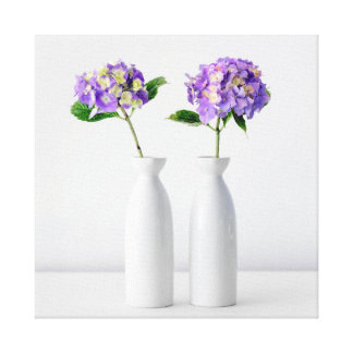 Purple Hydrangea Color Canvas Print
