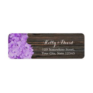 Purple Hydrangea Elegant Wood Rustic Wedding