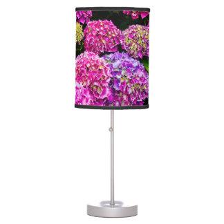 Purple Hydrangea Flowers Blooming In Summer Table Lamps
