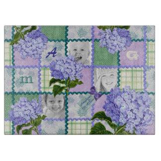 Purple Hydrangea Instagram Photo Quilt Collage Boards