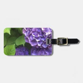 Purple Hydrangea Luggage Tag