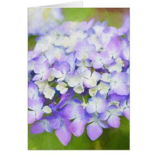 Purple hydrangea | mothersday | birthday | card