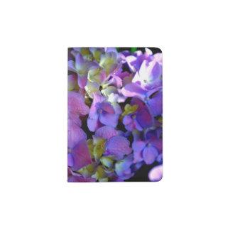 Purple hydrangea passport holder
