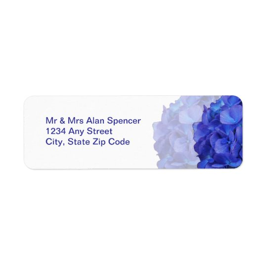 Purple Hydrangea Return Address Labels