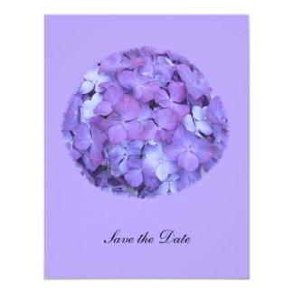 Purple Hydrangea Save the Date Invite