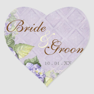 Purple Hydrangea Swirl - Wedding Seal or Sticker