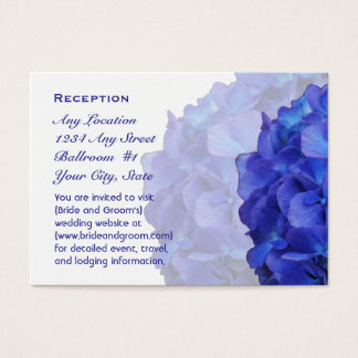 Purple Hydrangea Wedding Reception Cards