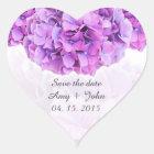 Purple hydrangea wedding stickers hydrangea4