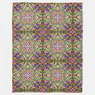 Purple Hyperbolic Flowers Fleece Blanket
