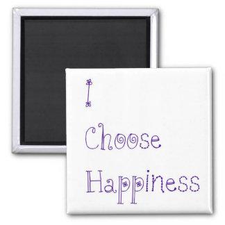 Purple I Choose Happiness Magnet