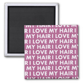 Purple I Love My Hair Bold Text Cutout Magnet