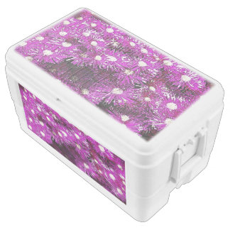 Purple Ice Cap Abstract Cooler