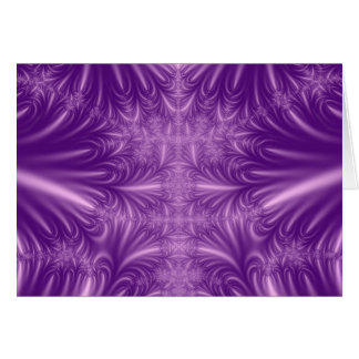 Purple Ice Crystals Card