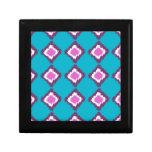 Purple Ikat Diamonds Custom Pattern Jewelry Boxes