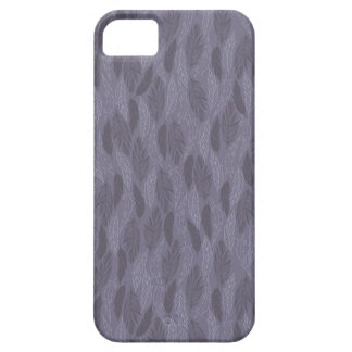 Purple Illustrated Feathers Pattern iPhone 5 Cases