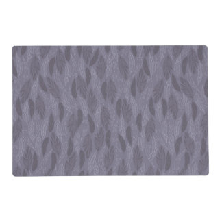 Purple Illustrated Feathers Pattern Laminated Placemat