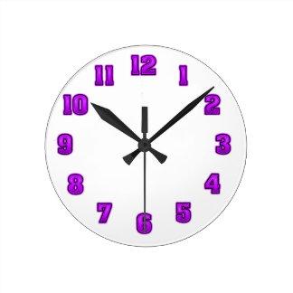 Purple in Black Clock Template